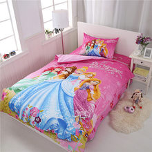 Hot Sale Home Cute Princess Bedding Set Cartoon Cotton Bed Linen for Children Boys Girl Gift Duvet Cover Flat Sheet Pillowcase(China)