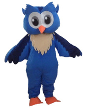 Big Brown blue Owl christmas mascot costumes 100% real picture for adults Halloween Outfit Fancy Dress Suit Free Shipping(China)