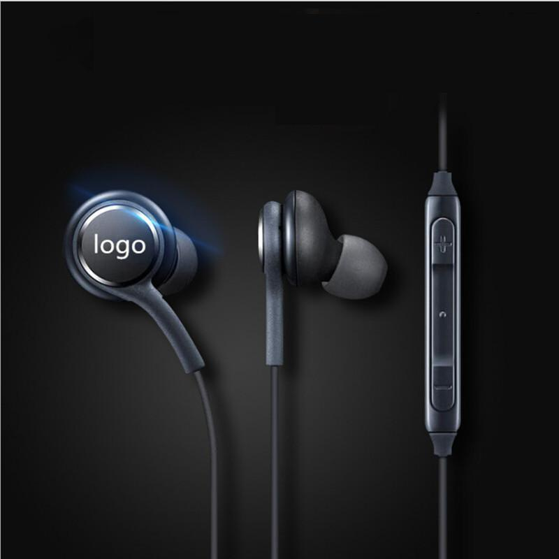 With Logo Sports Stereo In-ear Earphones With Mic 3.5mm Wired Headset For Samsung Galaxy S8 S8plus Fone De Ouvido Universal