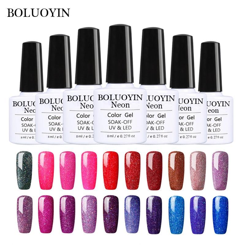 Shimmer Néon UV Nail Gel Vernis Besoin Led Lampe Vernis Semi Permanent UV Nail Gel Polonais Beauté Arc Nail Art gel Amorce