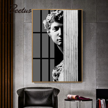 Famous Artistic Plaster Statue David Abstract Canvas Painting Poster And Print For Living Room Aisle Fashion Creative Home Decor