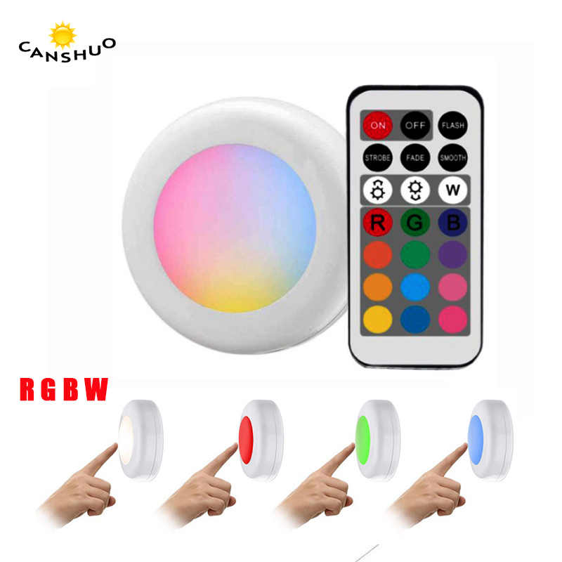 Remote control RGB cabinet light powered Touch Sensor closet lamps led lights for bedroom Living room kitchen lighting decor