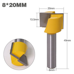 "Image 5 - 1"" Bottom Cleaning Router Bit   8"" Shank"
