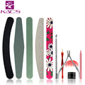 KADS 11pcs Nail Files High Quality Gel Sawing Buffer Polish Buffer Nail Art Pedicure Nail Dust Brush Manicure Sanding Buffer