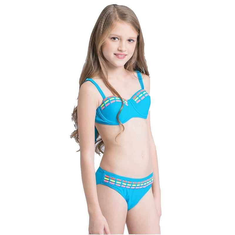 ... 2018 Girls Kids Halter Micro Bikini Set Swimsuit Beach Wear Swimwear  Children Cute New Sexy Bather ...