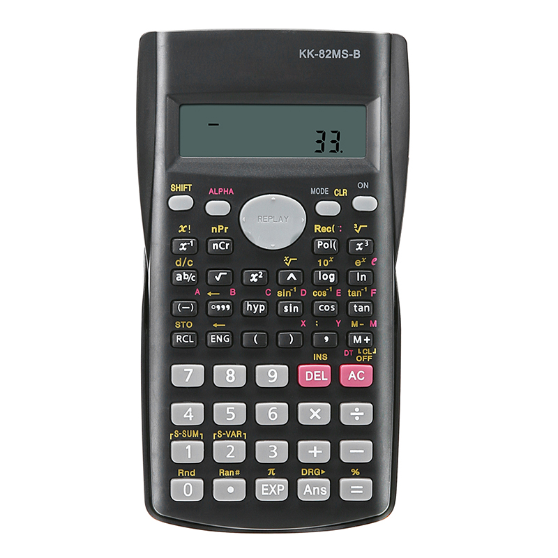 82MS-A bærbar håndholdt multifunktionel kalkulator til matematikundervisning Studerende Funktion Display Scientific Calculator