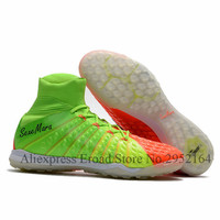 Indoor Soccer Shoes Men TF Turf Soccer Cleats Boys High Ankle Football Boots Professional Sapatos De