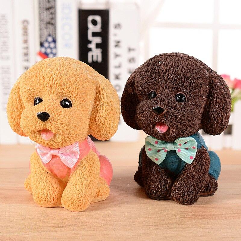 Cute Dog Resin Piggy Bank Saving Money Kids Birthday Gifts Dog Ornaments Tirelire Cofre Money Boxes