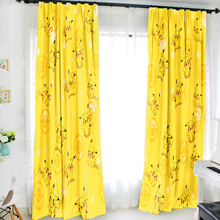 Oct New Home Textile Pokemon Anime Pikachu 150 200CM Milk Wire Fabric Children Cartoon Window Curtain