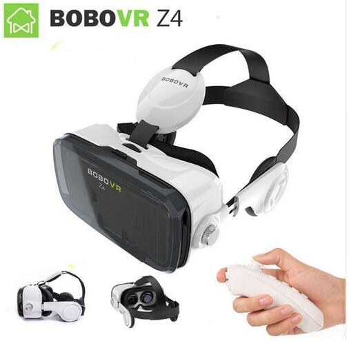 0665d5e22eb6 Original BOBOVR Z4 Leather 3D Cardboard Helmet Virtual Reality VR Glasses  Headset Stereo Box BOBO VR