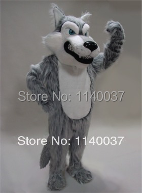 mascot Grey Wolf Mascot Costume plush coyote custom fancy costume anime cosplay kit mascotte theme fancy dress carnival costume