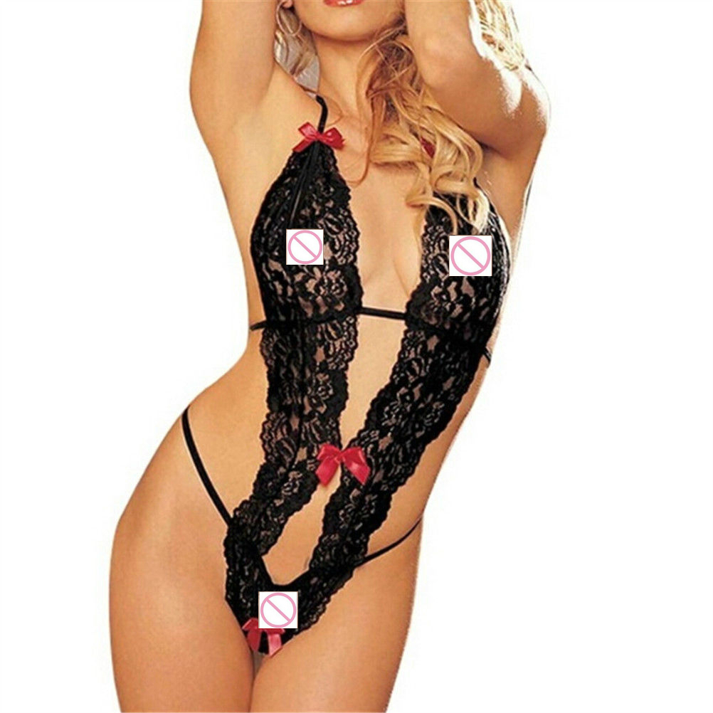 Hot Sale Sex Products <font><b>Sexy</b></font> Costumes Women Underwear Lady <font><b>Sexy</b></font> <font><b>Lingerie</b></font> Transparent Conjoined Dress Suit Leotard <font><b>Intimates</b></font> image