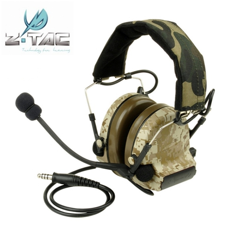 Z-Tactical Comtac II Noise Reduction Headset Earphone Military Hunting Airsoft Paintball Tactical Headphone Z041 Digi-Desert цена 2017