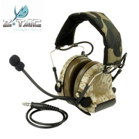 Z Tactical Comtac II Noise Reduction Headset Earphone Military Hunting Airsoft Paintball Tactical Headphone Z041 Digi Desert