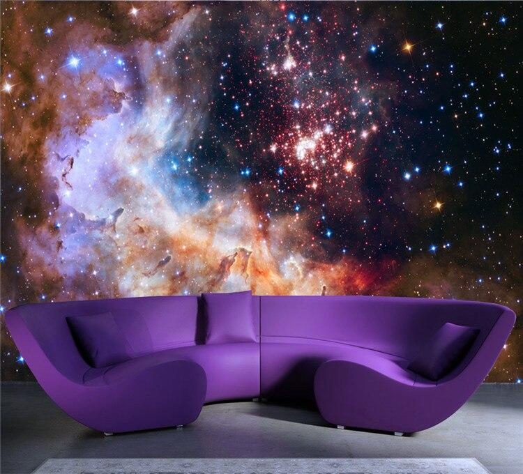 Aliexpress.com : Buy 3D Gorgeous Galaxy photo wallpaper Custom ...