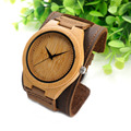 BOBO BIRD F18 Mens Top Brand Bamboo Wood Watches Chicago Bracelets Genuine Leather  Bands Straps With Gift Box Drop Shipping
