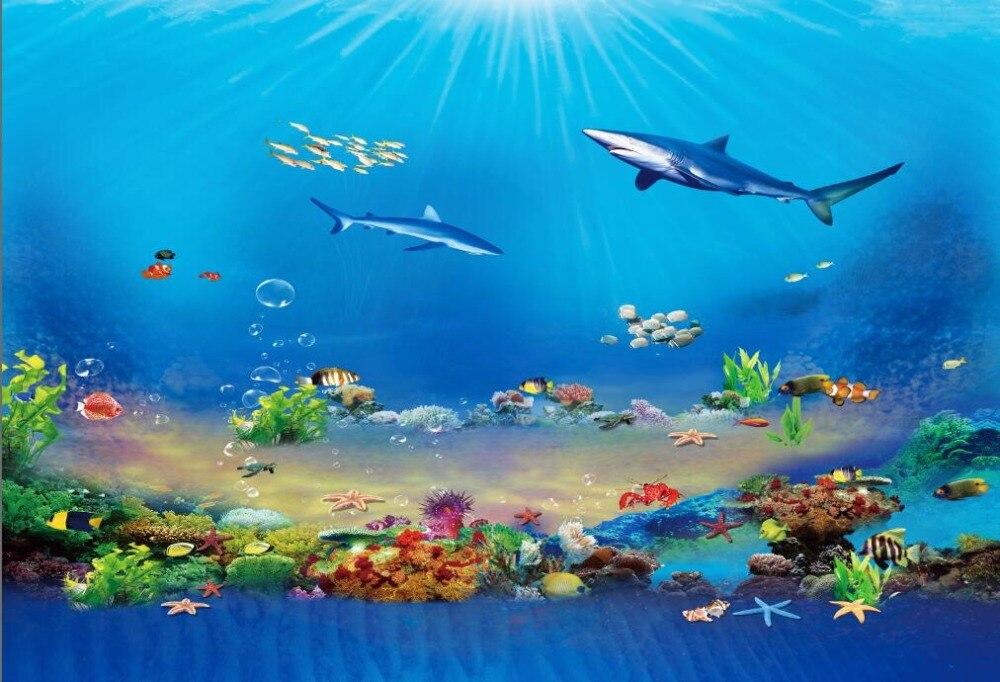 Fantastic deep sea fish photography backdrop vinyl background for photo studio portrait photophone props retro background christmas photo props photography screen backdrops for children vinyl 7x5ft or 5x3ft christmas033