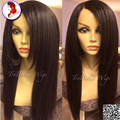 8A Grade 180 Density Front Lace Human Hair Wig With Baby Hair Silky Straight Malaysian Virgin Wigs For Black Women