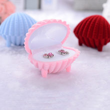 1pc Seashell Shape Exquisite Jewelry Gift Box Bracelet Ear Studs Necklace Hair Clips Gift Box Organizer Storage Box(China)