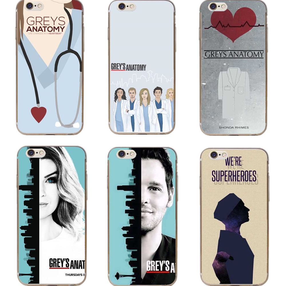 Cute Greys Anatomy Quotes Pattern Mobile Phone Cases For iPhone 5 5s SE 6 6S 7 7Plus 6SP ...
