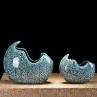 Chinese Ceramic Vase Decoration Home Vase Cactus Ceramica Terrarios De Cristal Para Plantas Aquarium Container Home Decor QAB088