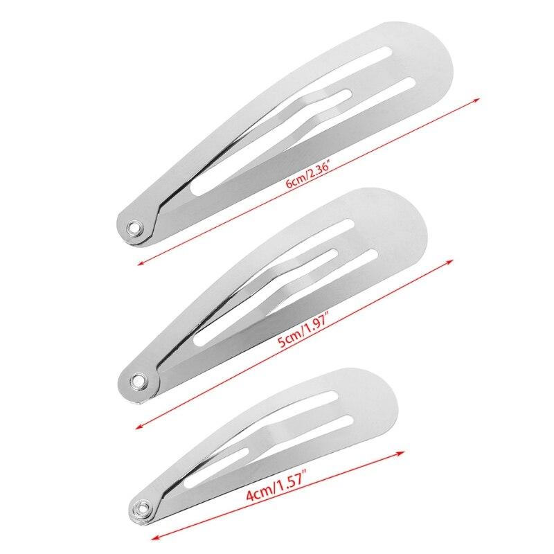 Заколки для волос серебристого цвета, 4/5/6 см, 1 упаковка, 50 шт.