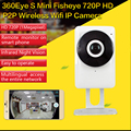 2016 New Arrival 360 Degree Fisheye Panoramic WIFI Camera IP P2P Cam EC1-G6 H.264 IR Night Vision 1 MP 1.44MM Lens