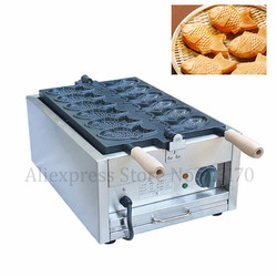 Commercial Electric Fish-shape Cake Machine Taiyaki Machine Taiyaki Waffle Maker Non-stick Cooking Surface 6 Molds/pan