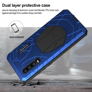 Image 4 - עבור Huawei P30 P30 פרו טלפון מקרה קשה אלומיניום מתכת מזג זכוכית מסך מגן כיסוי עבור Mate10 20 כבד החובה הגנה