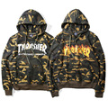2016 Thrasher Hoodies Men High Quality Camouflage Trasher Hoodies Hip Hop Skateboard Camo Sweatshirt Thrasher Tracksuit Hoodie