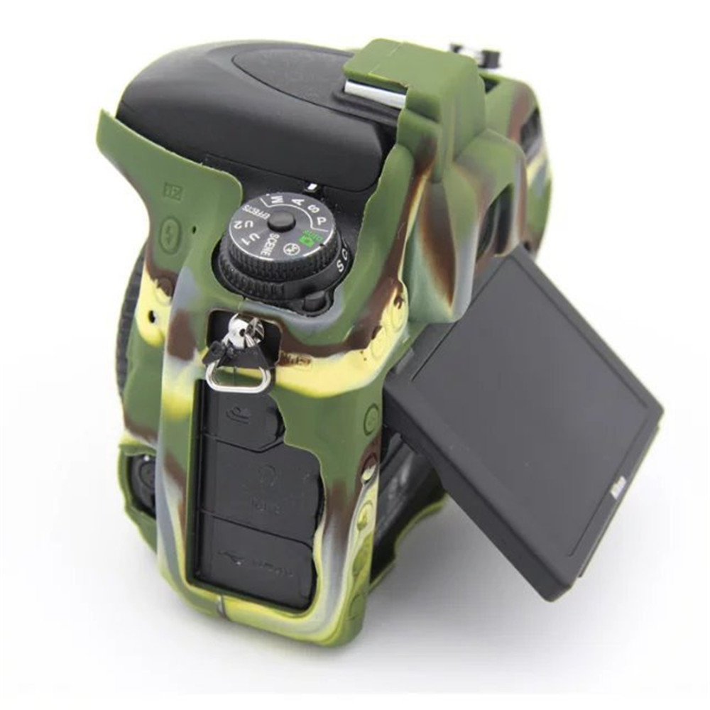 Color : Color1 Protective Camera Case Soft Silicone Protective Case for Nikon D5500 Camouflage D5600