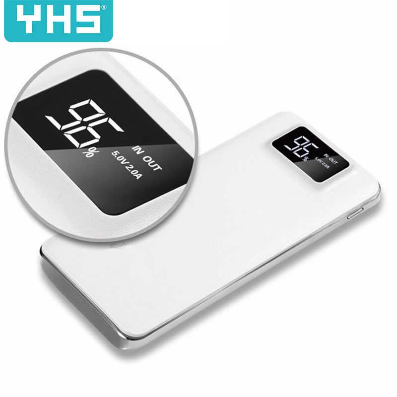 30000 мАч Внешний аккумулятор PoverBank 2 USB светодиодный мини банк питания портативное зарядное устройство для мобильного телефона Xiaomi iphone Xs Max 8