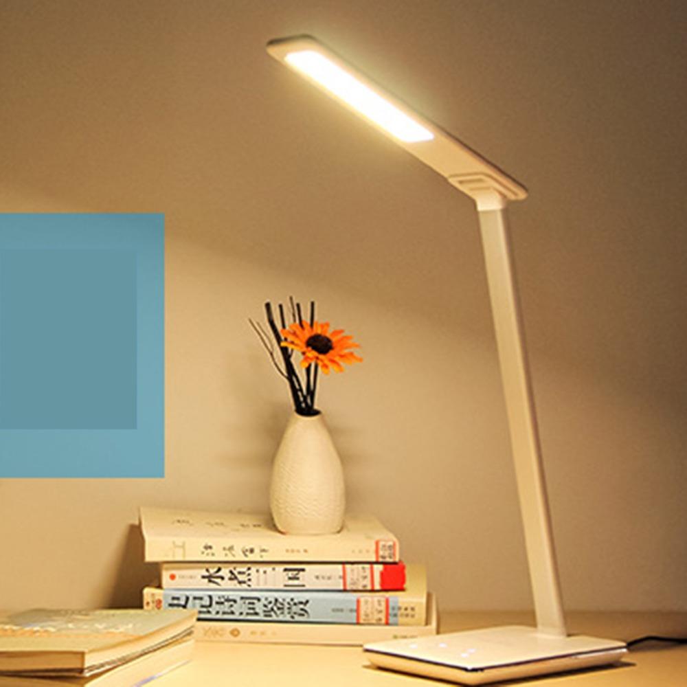 Multifunction Dimmable Desk Lamp Foldable Rotatable Eye Care 5W LED Sensor Touch Controller USB Charging Port Sensitive Lamp