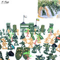 122pcs Mini 6cm Plastic Soldier Military Set With Tank Helicopter Model Best Gift For Boys Children