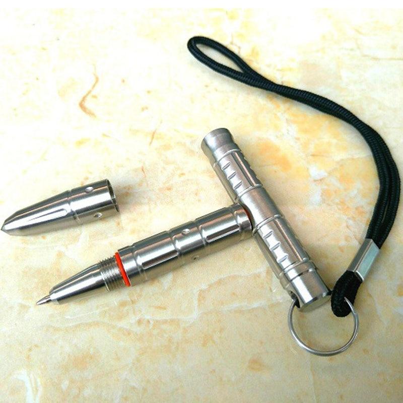 Tactical Defense Pen Multi-functional Stainless Steel Emergency Hammer Broken Window Tungsten Steel Head Self-defense Tool