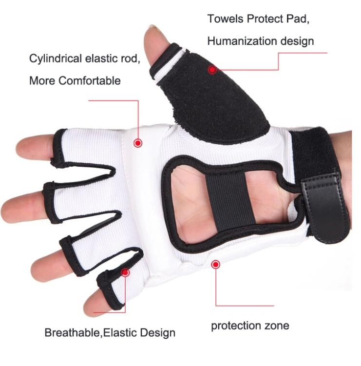 Taekwondo Gloves Fighting Hand Protector WTF Approved Martial Arts Sports Hand Guard PU Leather Fitness Boxing Gloves 2