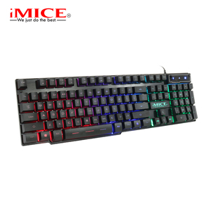 Image 5 - iMice Gaming Keyboard Imitation Mechanical Keyboard with Backlight Wired USB Game keyboards for DOTA CS with RU Stickers