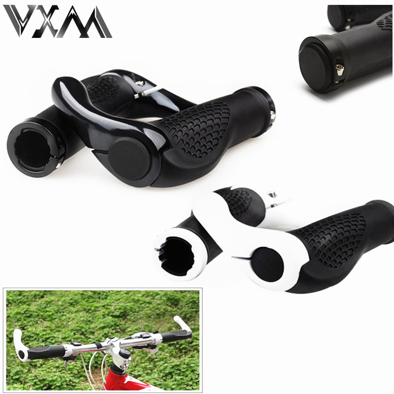 VXM Bicycle Handlebar Grip Cycling Lockable Handle Grips For MTB/ Road Bike Aluminum Alloy+ Rubber Anti-slip Grips Bicycle Parts factory sale 1 set cycling mtb mountain road bike bicycle lock on carbon handlebar cover handle grip bar end bicycle parts