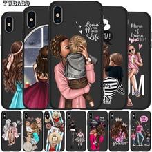 Чехол для iPhone X, модный, супер мама, девочка, для Iphone 5, 5S, 6, 6 S, 7, 8 Plus, X, XS, Max, XR, мягкий силиконовый чехол, Etui