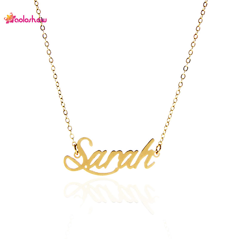 Aoloshow Letter Necklace Quot Sarah Quot Personalized Name For