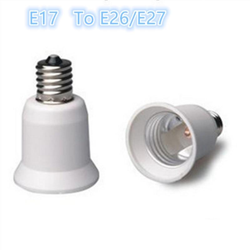 Lampenfassung Umwandler Verantwortlich 10 Stücke E17 Bis E26/e27 Erweiterung Adapter Konverter Kunststoff Lampenfassung Kostenloser Versand