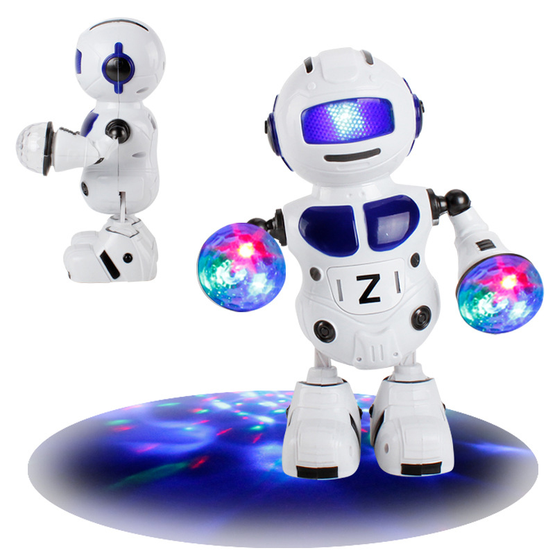180 Rotating Smart Space Dance Robot Electronic Walking English Speaking Robot With Music Light Astronaut Toys For Children