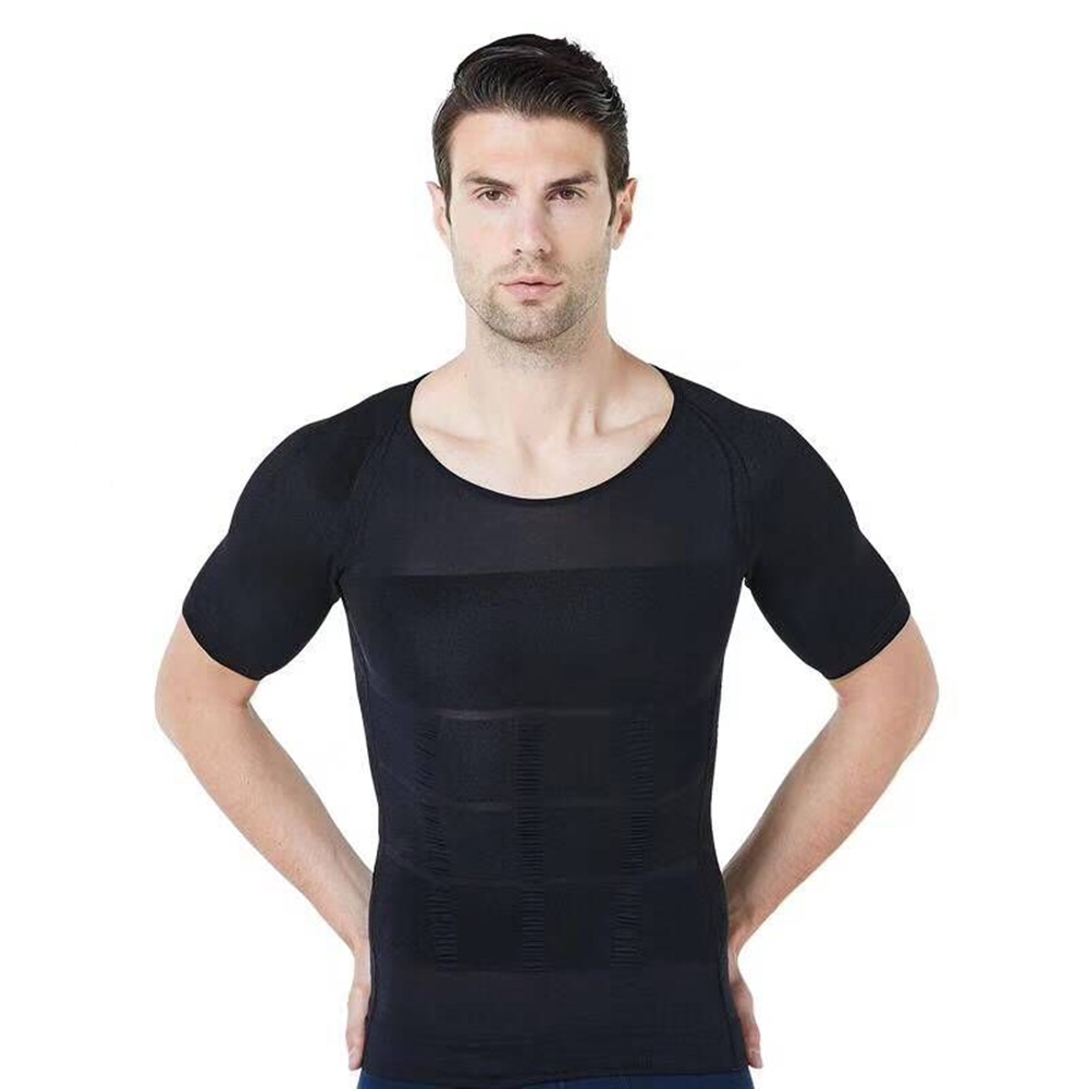 Men Bodysuit Slimming Tummy Shaper Belly Underwear Shapewear Waist Girdle Vest Shirt plus size tops