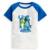 Baby boy t shirt para o verão meninos de manga curta camiseta de Algodão meninos tops Crianças Roupa Criança Roupas roupas de monstros universidade