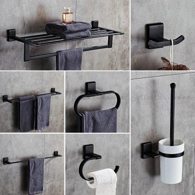 European Antique Solid Copper Bathroom Shelf Black Liquid Soap Dispenser Black Robe Hook Bathroom Accessories Set Paper Holder Полка