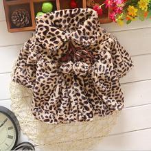 Новые высококачественные детские зимние леггинсы для девочек с леопардовым принтом пальто JS006