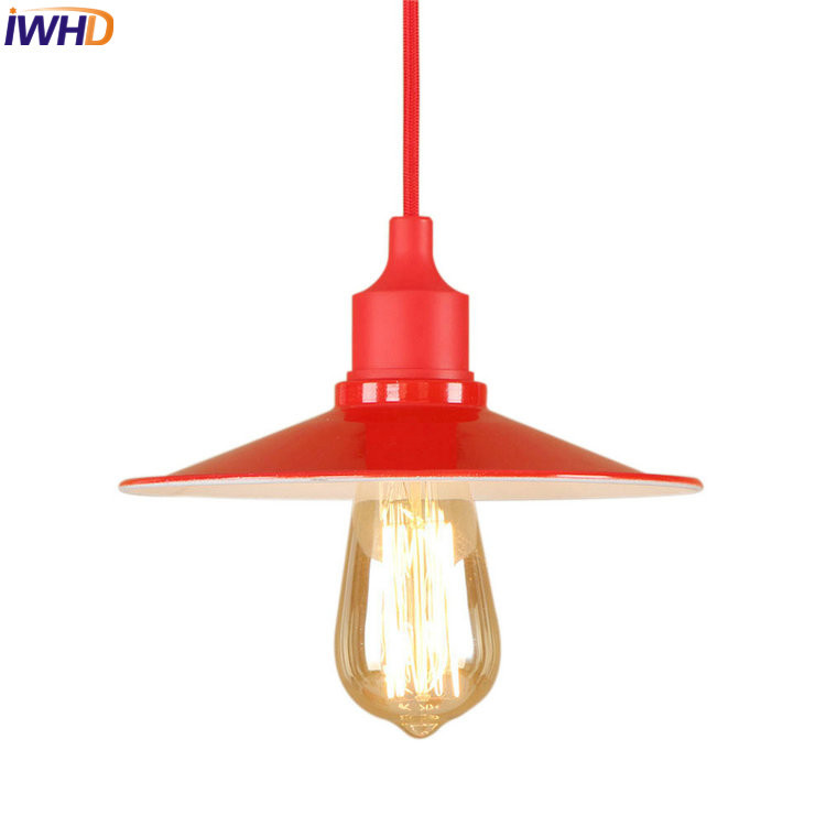 IWHD Vinatge Industrial LED Pendant Lights Retro Loft Pendant Lamp Creative Droplight Hanglamp Fixtures Home Lighting Luminaire iwhd iron retro lamp pendant lights loft style creative industrial lighting fixtures led hanging lights fixtures lamparas lustre