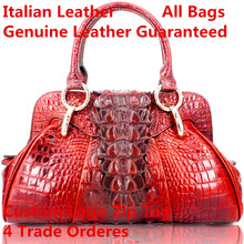 Italian Leather Custom logo wholesale dropshipping  genuine leather handbag Casual tote shoulder satchel for Genuine