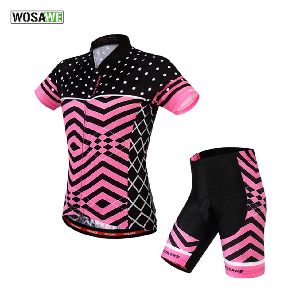 Wosawe Для женщин Велоспорт Джерси спортивный комплект Майо Ciclismo велосипед Велоспорт Джерси Велосипедный Спорт Одежда mtb цикл рубашка Шорты д...