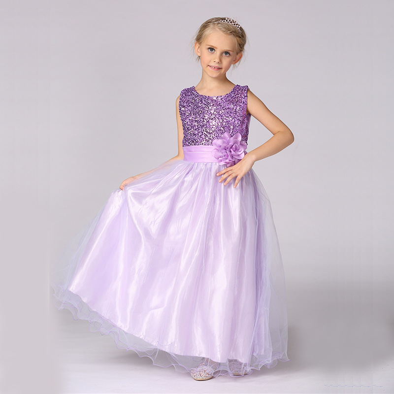 Princess Dress for Girls Clothes Sequins Bow-Knot Girl Party Long Dress Children Clothing 2017 Fashion Girls Dresses Kids bosch pcd345feu